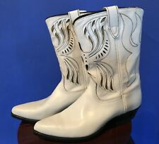 Vintage 40s or 50s Acme Cowboy Boots 6D Shorty Inlay new. Condition excellent.