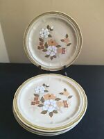 "SET OF 4 Crown Manor AUTUMN BLOSSOM 10-5/8"" Dinner Plates"