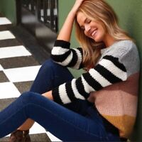 John + Jenn Anthropologie Keeley Striped Chunky Knit Pullover Sweater Size Small