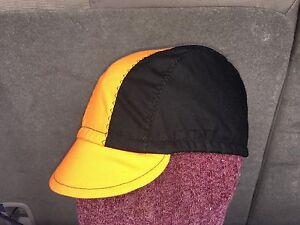 CYCLING CAP ONE SIZE COLOR BLACK & ORANGE 100% COTTON