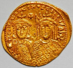 Byzantine Empire Constantine VI and Irene AV solidus XF RR! (Sear:1591)