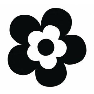 Adesivo fiore nero margherita ultra sottile resistente forte alta qualità