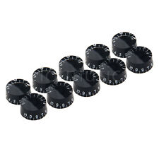 10pcs LEFT HANDED SPEED KNOBS FOR guitar black