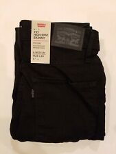 Levi's 721 Womens Skinny Jeans Black 28x30 Ankle High Rise Stretch $59 MSRP
