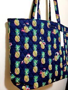 New VERA Bradley blue pineapple & TOUCAN PARTY Essential Tote shoulder bag