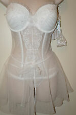 "VICTORIA'S SECRET Dream Angels""I Do""Bridal Bustier with Skirt White Size 36C NEW"