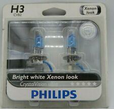 PAIR! PHILIPS H3 Crystal Vision ULTRA Light bulbs 12336CVB2 12V 55W DOT 4000K