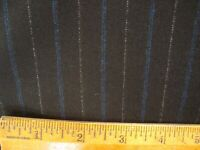 "4.44 yd English Wool Cashmere Flannel Fabric Super 140s Black 9 oz Suit 160"" BTP"