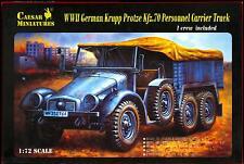Caesar Miniatures 1/72 GERMAN KRUPP PROTZE Kfz.70 PERSONNEL CARRIER TRUCK