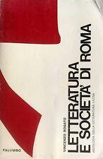 VINCENZO ROSATO LETTERATURA E SOCIETÀ ANTOLOGIA LETTERATURA LATINA 3 PALUMBO '74