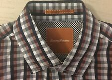 Tommy Bahama Button Up Dress Shirt Size Medium Tommy Plaid Multi-Color