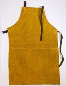 leather welding apron portwest welder work safety chrome leather heavy duty long