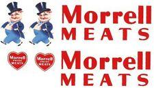 TONKA  MORRELL  MEATS DECAL  SET