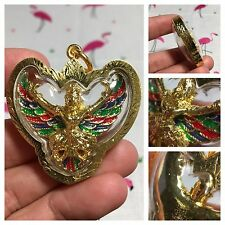 BEAUTIFUL THAI PENDANT AMULET GARUDA PHAYA KRUT MAGIC EAGLE BIRD BLESSED STRONG