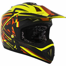 LARGE Kimpex CKX TX529 Off Road Motocross Helmet Leak Terra Yellow Black #1934