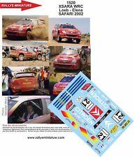 DECALS 1/43 REF 1520 CITROEN XSARA WRC SEBASTIEN LOEB RALLYE SAFARI RALLY 2002