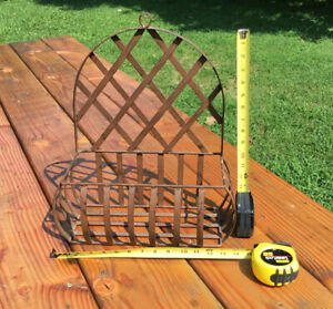 Vintage Wrought Iron  Hanging Basket For Flowers Or Planter