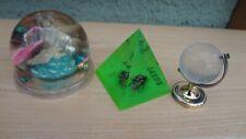 Sehr schöne 3 St.Deko - Pyramide + Globus mit Kristallkugel + Meereshalbkugell