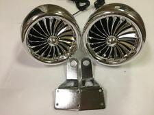 Shark 2 300w chrome waterproof marine grade motorcycle speakers w/mirror bracket