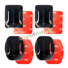 2 x Flat + 2 x Curved Adhesive Sticky Mount For GoPro Hero 2 3 3+ & 4 Go Pro