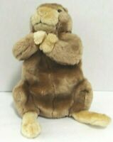 "Gopher Puppet Plush Stuffed Animal Brown Tan 11"" Tall Qute Tail"