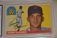HARMON KILLEBREW ROOKIE 1955 TOPPS #124 HOF GRADED 5 EX: NICE CARD