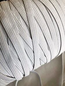 6mm Quality White Elastic Cord For Sewing Dressmaking Tailoring Crafts Masks