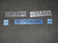 White GMC Brigadier Badge Emblem & Lettering Set