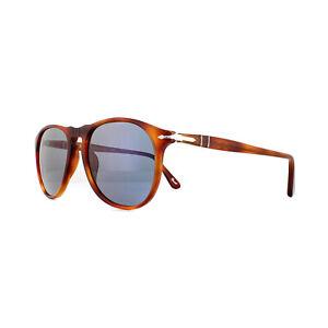 Persol Sunglasses 9649 96/56 Terra Di Siena Light Blue