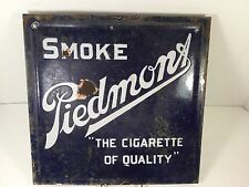 COLLECTABLE DOUBLE SIDED CHAIR- BACK TOBACCO ADV. PORCELAIN SIGN 11 x 11