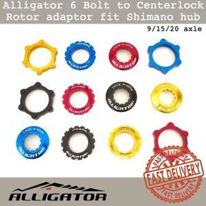 Alligator 6 Bolt to Centerlock Bike Rotor adaptor fit Shimano hub 9/15/20 axle
