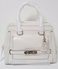 Coach Chalk Off White Smooth Swagger Frame Satchel Carryall 37182 NWT