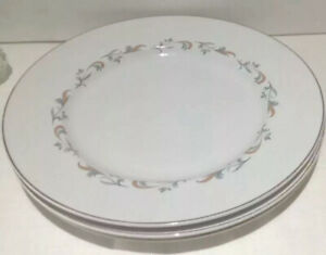Vintage Meakin  Decorated By Alfred Clough  Dinner Plates X 3