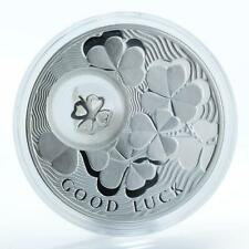 Niue 1 dollar Coins for Luck Four-leaf Clover luck silver proof coin 2010