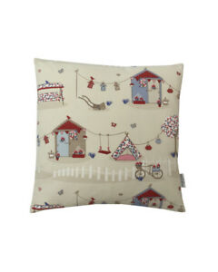 """16"""" Tepee Summer holidays in Blue scatter cushion covers pillow sham made in UK"""