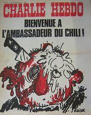 CHARLIE HEBDO No 171 FEVRIER 1974 REISER BIENVENUE A L AMBASSADEUR DU CHILI !