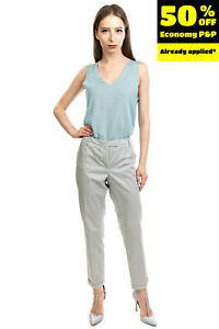 RRP €180 J.B. FOSTER Tailored Trousers Size 46 L Stretch Geometric Made in Italy