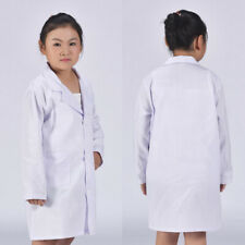 Child White Lab Coat Doctor School Costume Show Fancy Performance Supply S-XL