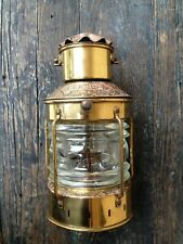 ANCHOR OIL LAMP NAUTICAL MADE IN ENGLAND VINTAGE MARITIME COPPER BRASS LANTERN