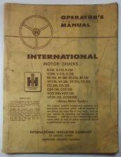 IH International Motor Trucks Operator's Manual