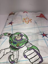 Vintage Disney Toy Story Twin FLAT Sheet Material curtain Buzz Woody
