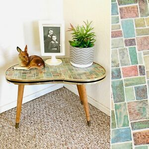60s Mid Century Plant Stand Table Display Side End Table Formica Vintage 50s