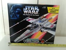 STAR WARS ELECTRONIC POWER OF THE FORCE X-WING FIGHTER BOXED KENNER 1995 malaya