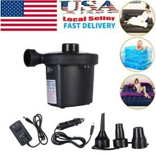 Pro Electric Air Pump Inflator For Inflatable Toy Boat Air Bed Mattress Car 110V