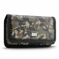 Cell Phone Camo Pouch with Belt Loop and Metal Clip Holster (3 Sizes) - Evocel