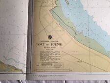 Genuine Vintage 70s Nautical Chart. Port Burnie Tasmania Australia