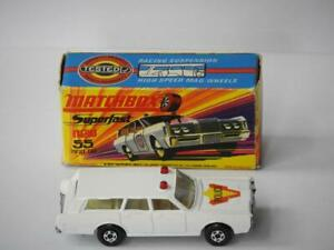 MATCHBOX LESNEY SUPERFAST MERCURY ESTATE POLICE CAR No.55 VNM H1 BOX 1971-74