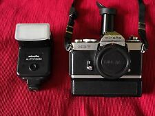 Minolta XD7 Camera Body, Winder, Flash, Angle Finder Nice!