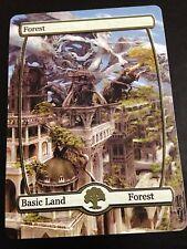 Custom Made Full Art Magic the Gathering Forest Land Fantasy Castle EDH Card