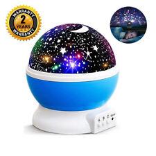 LED Rotating Star Projector Baby Night Lamp Nursery Children Room Lighting Light